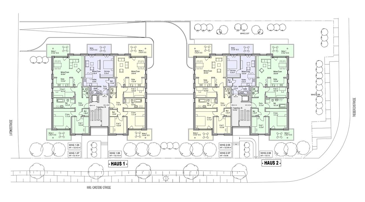 trier tarforst neubau von zwei mehrfamilienwohnh usern ifa immobilien. Black Bedroom Furniture Sets. Home Design Ideas