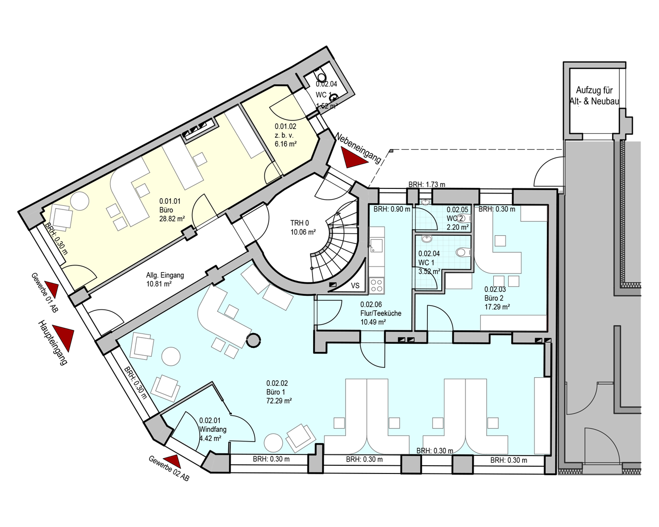 Nr. 01 - EG - 36,50 m²