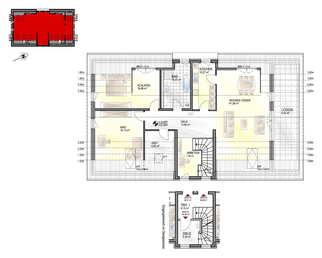 Nr. 5 - DG - 4 Zimmer - 144,52 m²