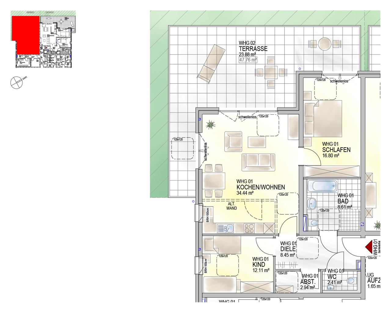 Nr. 01 - GG - 3 Zimmer - 109,64 m²