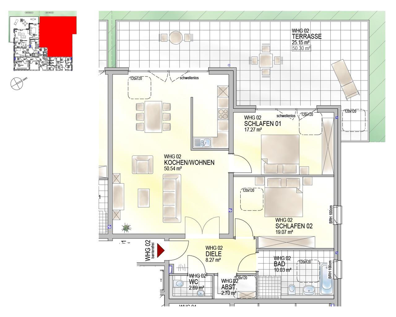 Nr. 02 - GG - 3 Zimmer - 135,99 m²