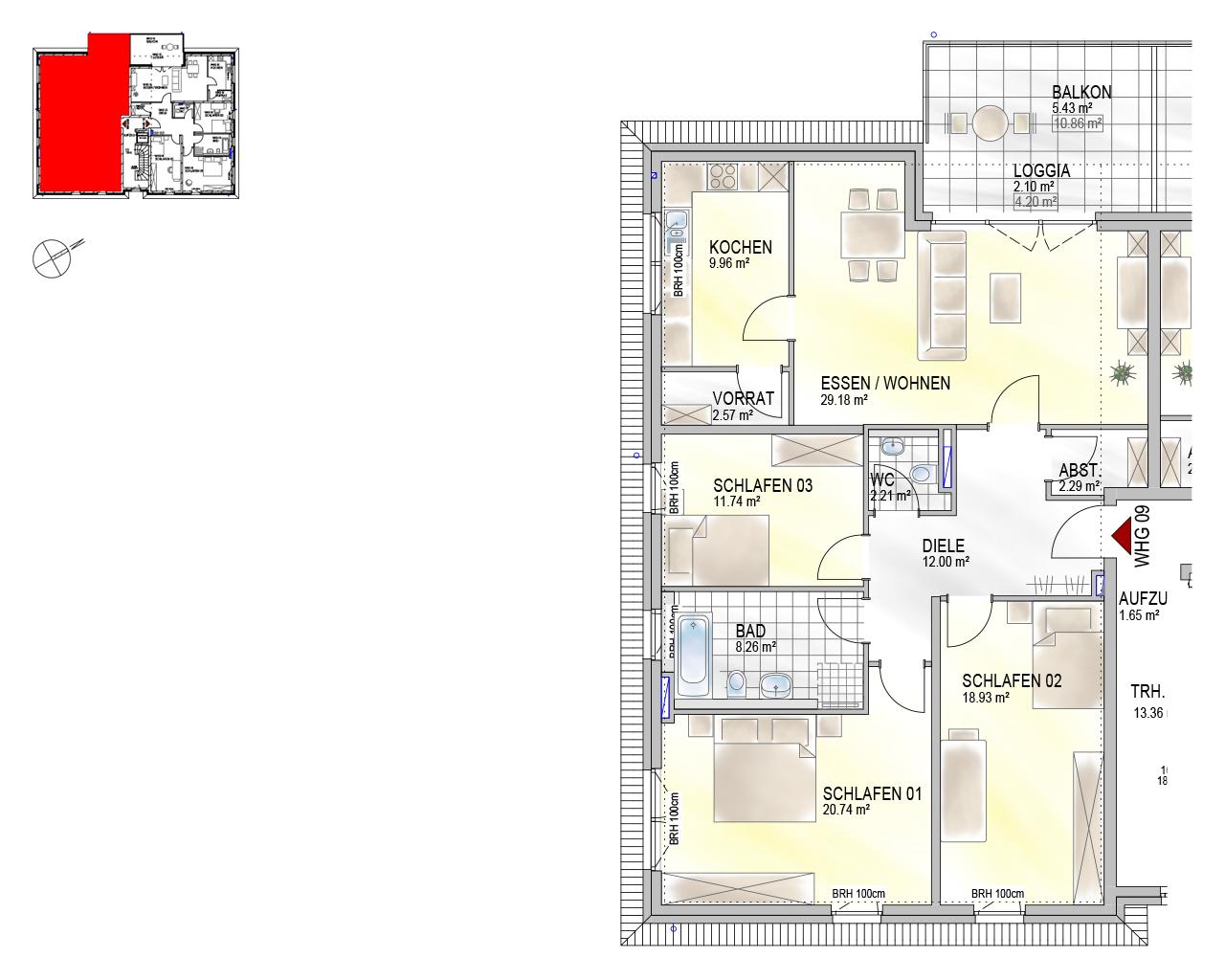 Nr. 09 - DG - 4 Zimmer - 125,14 m²