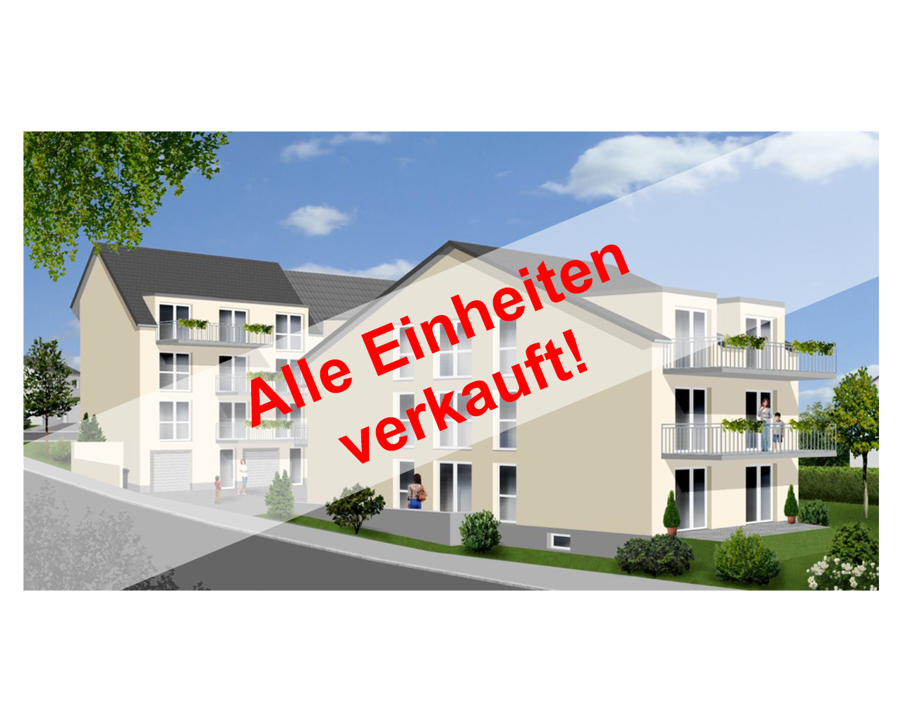 Trier-Zewen: Neubau von zwei Mehrfamilienwohnhäusern