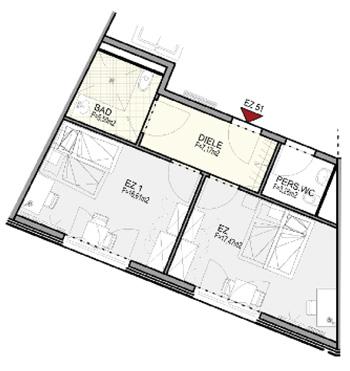 2-Zimmer Pflegeappartement in der Größe 20,71m² bis 23,50m²