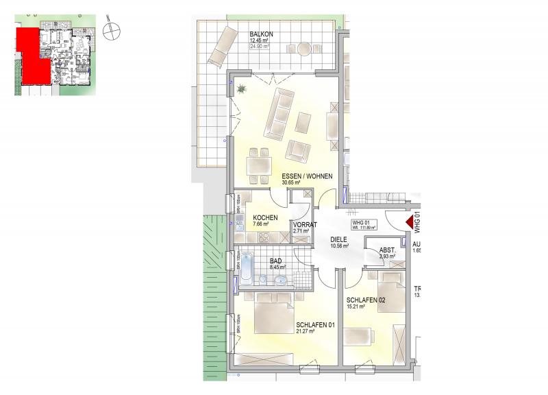 Residenz Bahnhofstraße 26, Wohnung 01