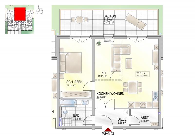 Residenz Bahnhofstraße 26, Wohnung 03