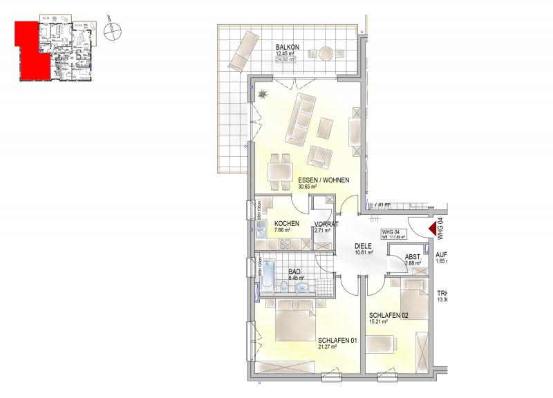 Residenz Bahnhofstraße 26, Wohnung 04