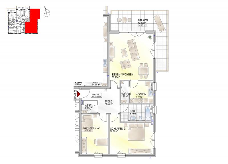 Residenz Bahnhofstraße 26, Wohnung 05