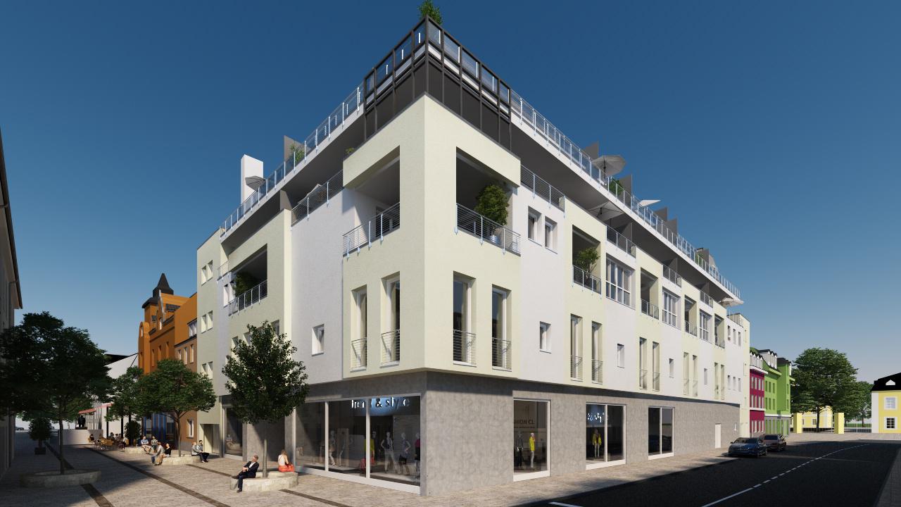 Umbau und Erweiterung des ehemaligen C&A-Gebäudes in der Mittelstraße 10, Quartier Rheinblick