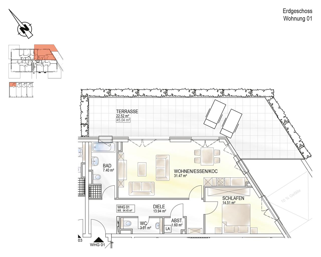 Trier, Schweich-Issel, Schweicher Str. 45, Wohnung 01