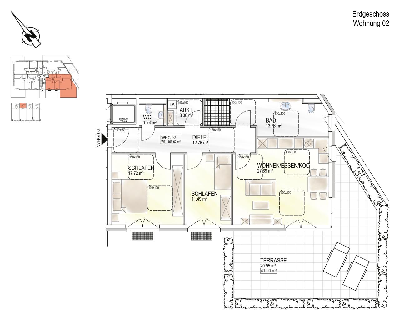 Trier, Schweich-Issel, Schweicher Str. 45, Wohnung 02