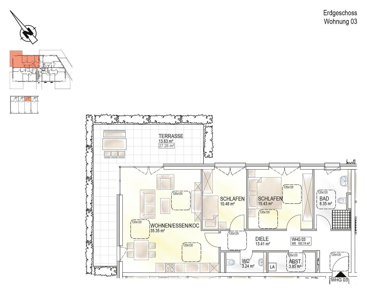 Trier, Schweich-Issel, Schweicher Str. 45, Wohnung 03