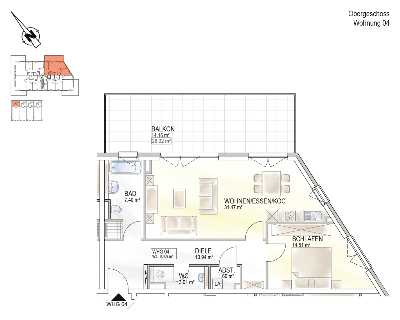 Trier, Schweich-Issel, Schweicher Str. 45, Wohnung 04