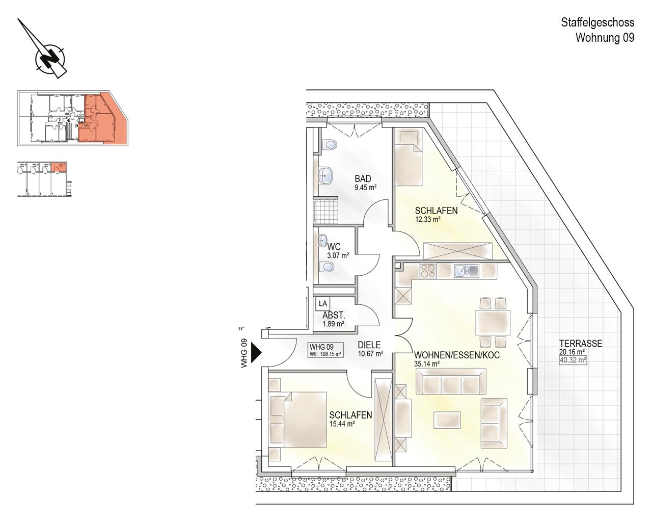 Trier, Schweich-Issel, Schweicher Str. 45, Wohnung 09