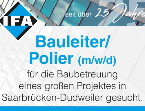 Bauleiter/Polier (m/w/d)  – gesucht